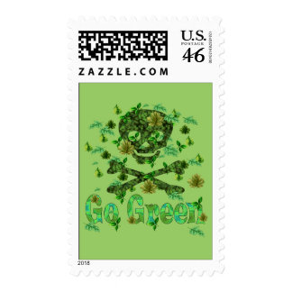 Earth Day Skull Stamp