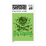Earth Day Skull Postage Stamps