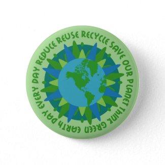 Earth Day Slogans Button button