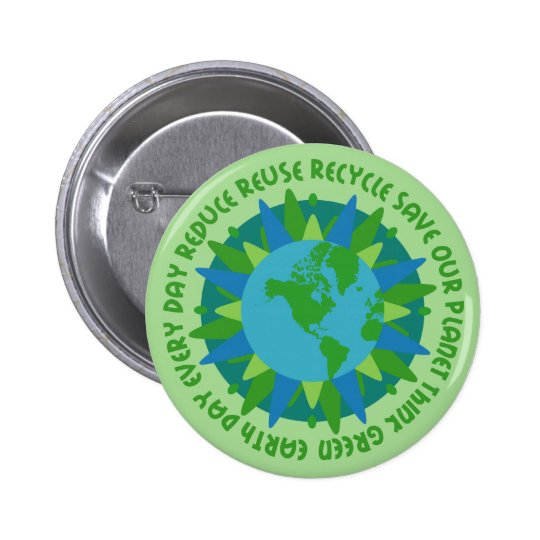 Earth Day Slogans Button