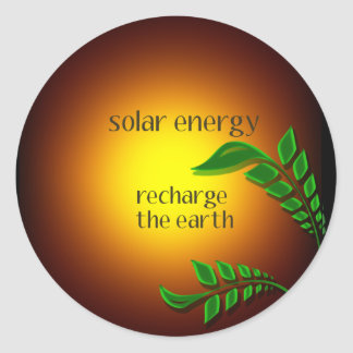 Earth day / Solar Energy Classic Round Sticker