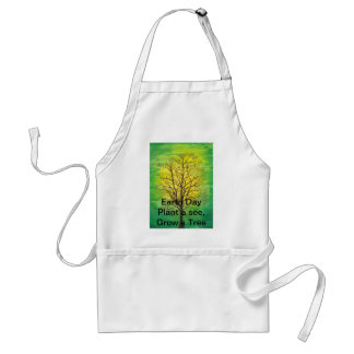 Earth Day Standard Apron - Green Tree