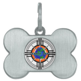 Earth Day Star Crown Pet ID Tag