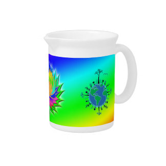 Earth Day ~ Sunburst Beverage Pitcher