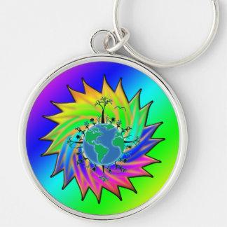 Earth Day ~ Sunburst Keychain