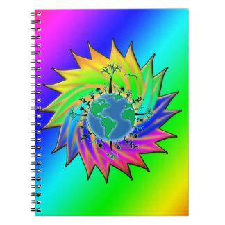 Earth Day ~ Sunburst Notebook