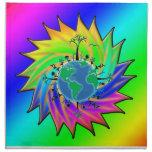 Earth Day ~ Sunburst Printed Napkin