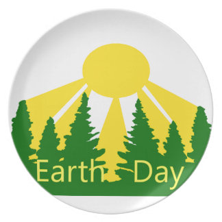 Earth Day Sunrise Plate