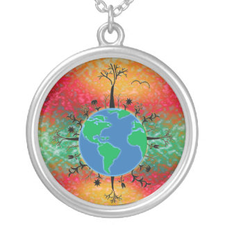 Earth Day ~ Sunrise Silver Plated Necklace
