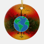 Earth Day ~ Sunset Christmas Ornament