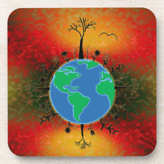 Earth Day ~ Sunset Coaster