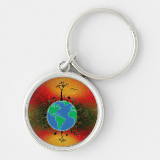 Earth Day ~ Sunset Keychain