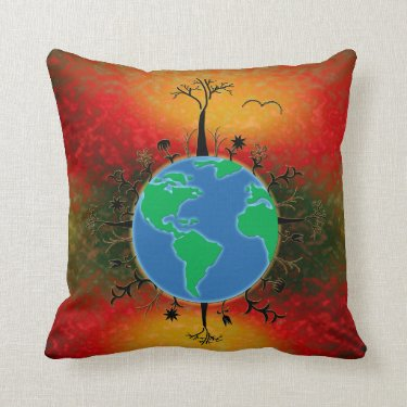 Earth Day ~ Sunset Pillow