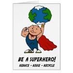 Earth Day Superhero Card