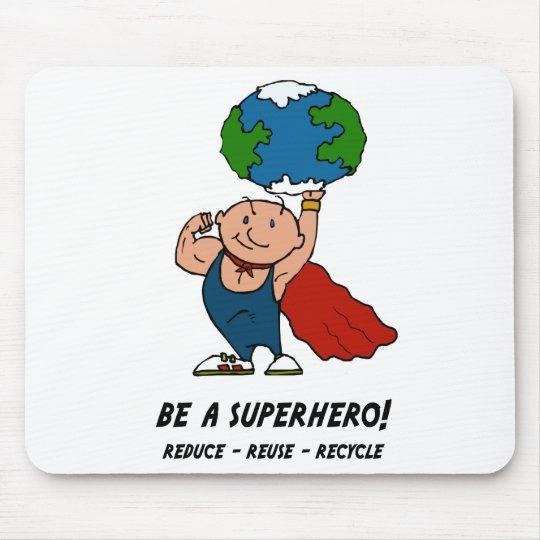 Earth Day Superhero Mouse Pad