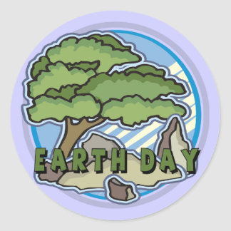 Earth Day T Shirts and Gifts Classic Round Sticker