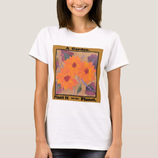 Earth Day Tee with Garden Flowers