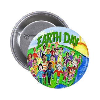 Earth Day The World Celebrates Button