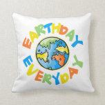 Earth Day Throw Pillows