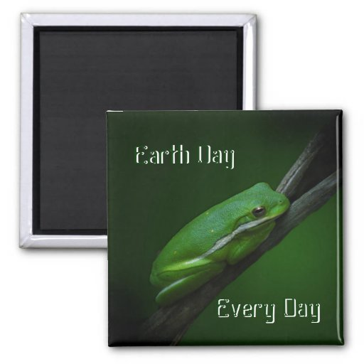 Earth Day Tree Frog Magnet