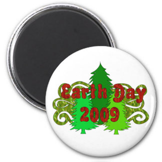 Earth Day Trees 2009 2 Inch Round Magnet