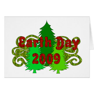 Earth Day Trees 2009 Greeting Card