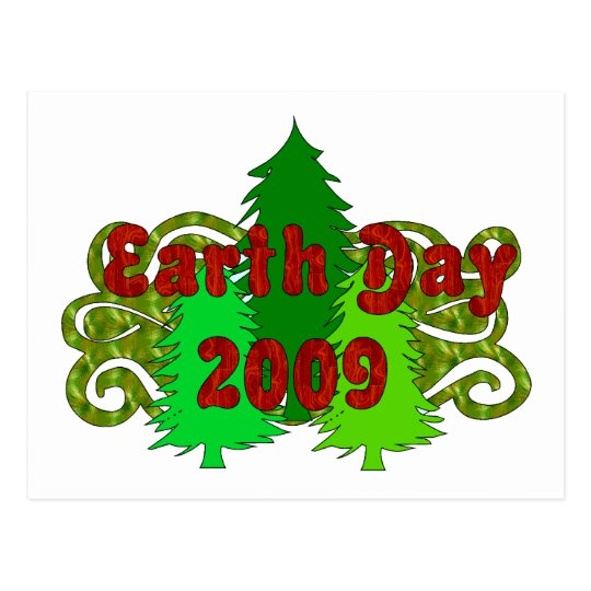 Earth Day Trees 2009 Postcard