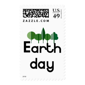 Earth Day! Trees design! Postage