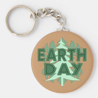 Earth Day Trees Keychain