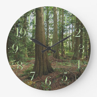Earth Day Trees Scenic Forest Nature-lovers Clock