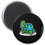 earth day turtle 2 inch round magnet