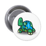 Earth Day Turtle Button