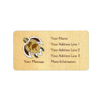 Earth Day Turtle Name Tag Address Labels label