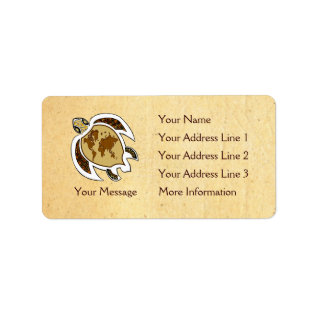 Earth Day Turtle Name Tag Address Labels at Zazzle