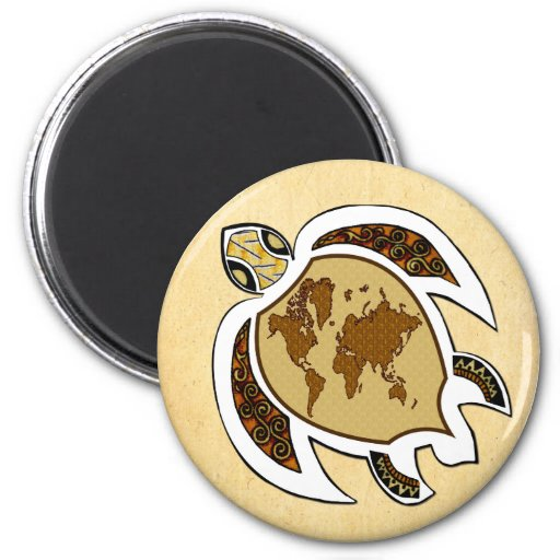 Earth Day Turtle on Fridge Dishwasher Magnet