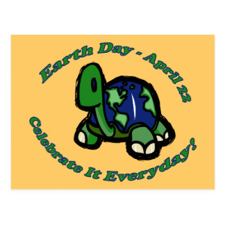 Earth Day Turtle Postcard