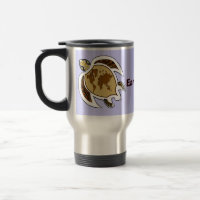 Earth Day Turtle Travel Mug mug
