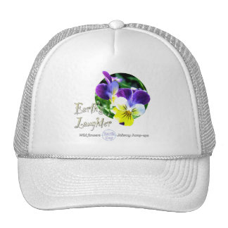 Earth Day Viola Wildflower Cap Trucker Hat