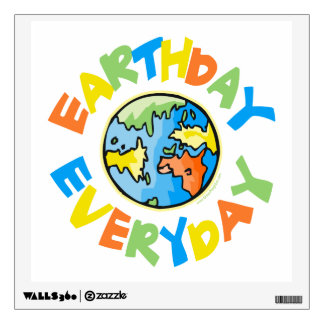 Earth Day Wall Decal