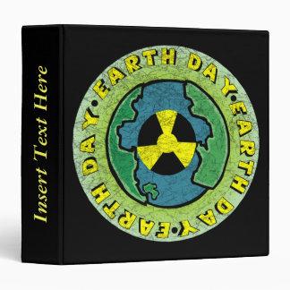 Earth Day Warning Avery Binder