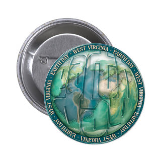 Earth Day West Virginia Button