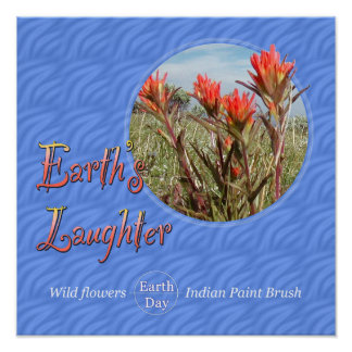 Earth Day Wildflower Poster Print