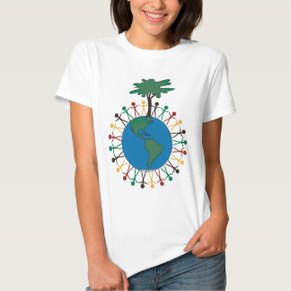 Earth Day with figures and tree - North America T-Shirt