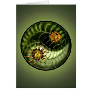 Earth Day Yin Yang Blank Card