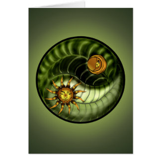 Earth Day Yin Yang Greeting Card
