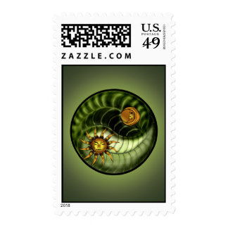 Earth Day Yin Yang Postage