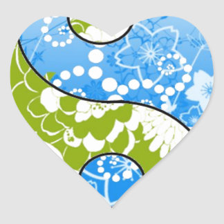 Earth Day Yin Yang Heart Sticker