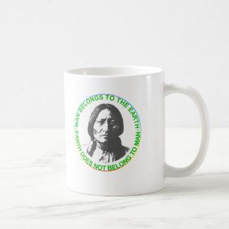 Earth does not belong to man coffee mug