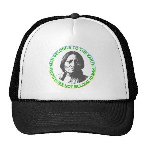 Earth does not belong to man trucker hat