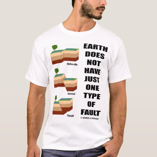 Earth Does Not Have Just One Type Of Fault T-Shirt